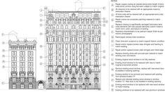 Exterior restoration building elevation diagram (excerpt from LPC package)
