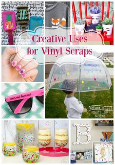 Creative Uses for Vinyl Scraps - Mine for the Making Nail Ideas nail vinyl ideas Diy Vinyl Projects, Glitter Projects, Cricut Explore Projects, Scrap Fabric Projects, Cricut Vinyl, Vinyl Art, Silhouette Vinyl, Silhouette Projects, Cricut Tutorials