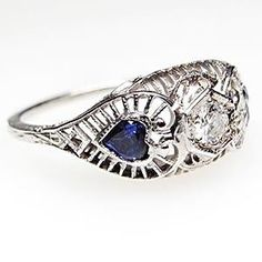 Vintage Wedding Rings 1920 | ... beautiful antique engagement ring is from the 1920 s and features a