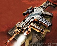 Bushmaster ACR, now sold to Remington with slight revisions. Modular design, and ambi controls, shoots 556/223
