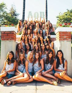 exceed the expectation! Sorority Poses, Sorority Rush, College Sorority, Sorority Sugar, Sorority Recruitment, Sorority Life, Sorority Socials, Sorority Pictures, Alpha Omicron Pi