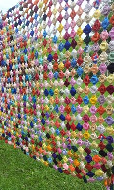 Crocheted fence from Craftseller Magazine