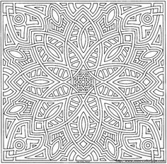 Kaleidoscope Coloring Pages for Adults | Christmas Ornaments Coloring Sheets - Free Coloring Pages Daily To