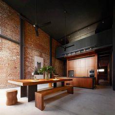Loft #bricks and #steel