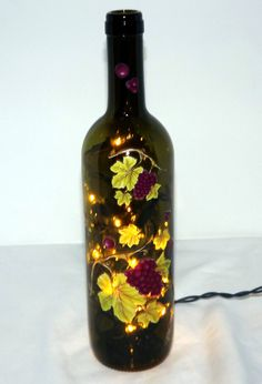 GRAPE CLUSTERS Recycled Wine Bottle Accent by CanDezign on Etsy, $19.00