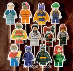 12  LEGO BATMAN MOVIE Cupcake and Cake Toppers by TheTopperShoppe