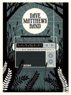 Concert Poster - Dave Mathews