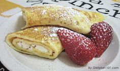 Low Carb Vanilla Ricotta Crepes with Strawberries (South Beach Phase 2 Recipe)