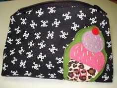 Skulls & Ice Cream Cosmetic Bag
