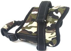 Pet Dog Heavy-duty Padded Camouflage Hunting Harness-Adjustable Chest and Neck Straps