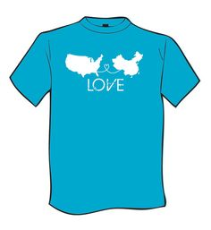 China Adoption Tshirt Blue by HeartforAdoption on Etsy, $25.00