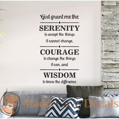 Christian Wall Decal - God Grant Me The Serenity
