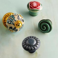 Add an unexpected hit of hue on kitchen cabinets, bath vanities—even a bedroom dresser—with these cheery decorative pulls.