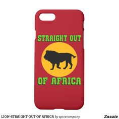 LION-STRAIGHT OUT OF AFRICA iPhone 7 CASE