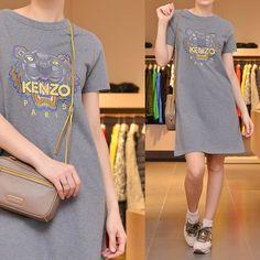 «: Платье #kenzo  Сумка #marcbymarcjacobs  Кроссовки #hogan»