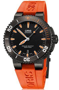 Oris Watch Aquis Date Rubber #bezel-bi-directional #bracelet-strap-rubber…