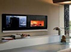modern gas fireplace ideas - Google Search