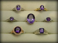 More amethyst rings!