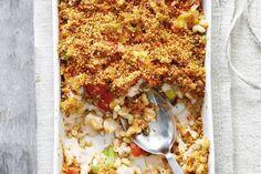 Kijk wat een lekker recept ik heb gevonden op Allerhande! Advertorial: Macaroni ovenschotel met prei en gehakt
