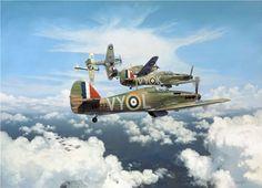 Hawker Hurricane Mk 1 - Aviation Art by Alex Hamilton                                                                                                                                                      More