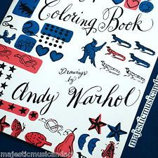 Andy Warhol Coloring Book First Edition | Coloring Pages