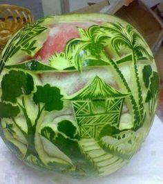 Amazing Water Melon Art