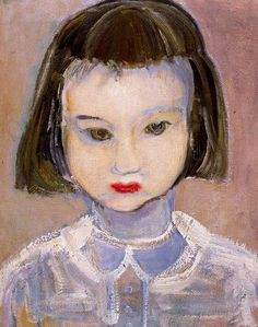 'Child with Lipstick' - 1992 - by Marlene Dumas (South African, b. - Oil on canvas - - Private collection - Watsonette Marlene Dumas, Figure Painting, Painting & Drawing, Artist Painting, South African Artists, Social Art, Art Blog, Art History, Oil On Canvas