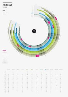 Infographic calendar 2012 (english, U.S. holidays) Art Print