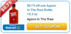 $0.75 off one Agave In The Raw Bottle, 18.5 oz