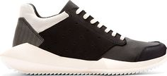 Rick Owens: Black & White Sculpted Sole adidas Edition Sneakers