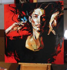 "Painting : Anna Bocek ""Butterfly"""