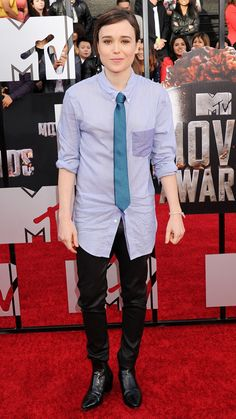 MTV Movie Awards 2014 Red Carpet - Ellen Page from #InStyle