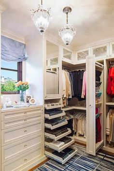Love this dressing area (via South Shore Decorating Blog)