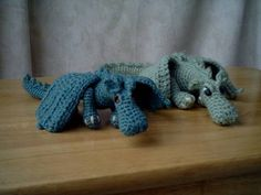 Fierce Little Dragon crochet pattern from Angry Angel on Craftster ... @Leslie Valeska