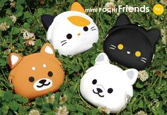 """Japanese Gift Market - """"mimi POCHI Friends Ver. 1"""" Designer Silicone Coin Purse. Want the calico kitty!"""