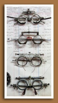 Vintage and antique optometrist's trial lens frames