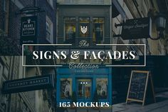 165 Signs & Facades Collection by Madebyvadim on Creative Market