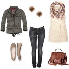 My first polyvore creation @Kim Driver!! I actually wore this outfit yesterday...