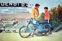 La primigenia DERBI 65 c.c. de 1960. El motor es idéntico al SACHS