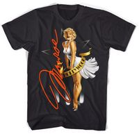 Marilyn Monroe chick in black t-shirt.