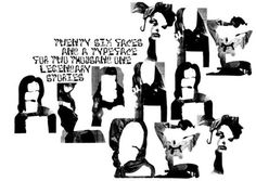 I wish I'd come up with this creative alphabet. Cudos to M/M Paris the duo creative powerhouse.
