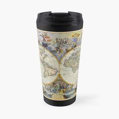 'vintage map of the world' Travel Mug by ModernFaces Map Design, Sell Your Art, Travel Mug, Art Prints, Mugs, Printed, World, Awesome, People