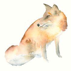 Fuchs Kunstdruck nach Original Aquarell von dearcatherina auf Etsy