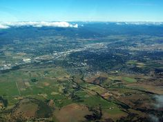 aerial view of the Rogue Valley