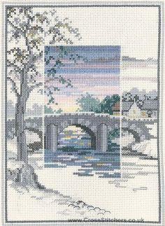 The Old Bridge - Sunsets - Cross Stitch Kit by Derwentwater Designs
