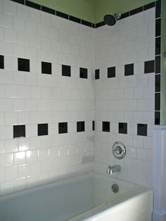a simple and very inexpensive tile idea...love the staggering, too.  (for my father-in-law's project!)