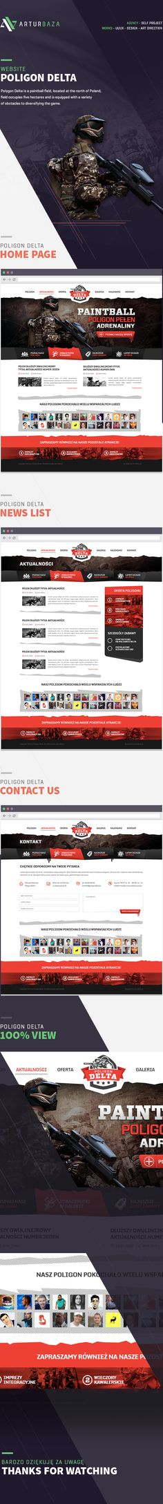 Poligon Delta - Paintball website on Behance