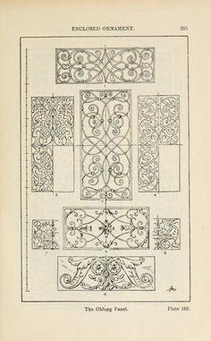 A handbook of ornament the oblong panel enclosed ornament pg 265