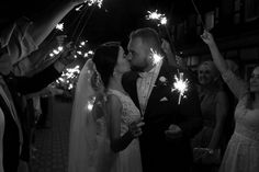 We love how this couple chose to depart their big day with a festive sparkler send-off! We love how this couple chose to depart their big day with a festive sparkler send-off! Wedding Exits, Wedding Night, On Your Wedding Day, Perfect Wedding, Wedding Reception, Wedding Rings, Cake Wedding, Dress Wedding, Wedding Season
