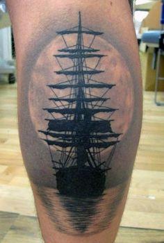 Tattoo Leg Sleeve Ship